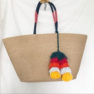 New Tote bag with Tassels - lightweight